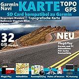 Kanarische Inseln Karte TOPO 32GB microSD. Topografische GPS Freizeitkarte für Fahrrad Wandern Touren Trekking Geocaching & Outdoor.für Garmin...