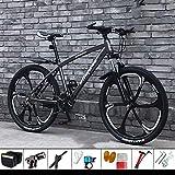 DelongKe 26 Zoll Mountainbike Hardtail - Mountain Bike Mit 30 Gang MTB Fahrrad Für Herren Und Damen Federgabel Gabelfederung,Jungen-Mädchen-Fahrrad &...