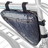 LYCAON Triangle Fahrradrahmen Tasche, wasserdicht reflektierende Fahrrad Front Lenker Tasche Strap-On Sattel Radfahren Tasche Lagerung Rohr Tasche für Reiten...