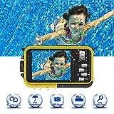 Unterwasserkamera Unterwasser Kamera 24.0MP 1080P 3,0 Meter Kamera Wasserdicht Makroaufnahme Vollständig versiegelte Digitalkamera 2,7 Zoll LCD...
