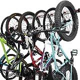 Fahrrad Wandhalterung für 3 oder 6 Fahrräder - Verstellbare Fahrradhalterung für Garage oder Wohnung - Vertikale Wand Fahrradaufhängung - Sichere Haken &...