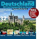 Deutschland Topo Karte Höhenlinien microSD für Garmin Navi, PC & MAC Fahrrad Wandern Touren Trekking Geocaching und Outdoor. Garmin Camper Colorado dezl Cam...