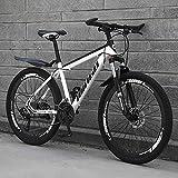 TOPYL Faltbare Mountainbike,Dual-scheiben-Bremse Hardtail Mountainbike,Mann Damen Erwachsene All Terrain Mountainbike,Einstellbare Sitz & Lenker Weiß/schwarz...