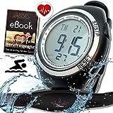 Fitness Prince© Heartbeat Puls-Uhr mit Brustgurt Herzfrequenz-Messung & Fitnesstudios ANT Trainingsbereich, Kalorienverbrauch Fettverbrennung Sportuhr...