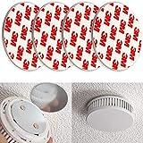 Rauchmelder Magnethalter, 4er Pack, Ø 70 mm, Selbstklebend, 3M Pads, Magnethalterung zur einfachen Befestigung ohne Bohren und Schrauben, für alle Feuermelder...