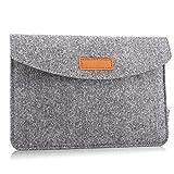 MoKo Universal 7-8 Zoll Felt Sleeve Hülle, Tragbare Filz Schutzhülle Tasche Kompatibel mit iPad Mini 5 2019, iPad Mini 1/2/3/4, Galaxy Tab S2 8.0, E 8.0, Tab...
