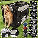 Leopet Hundebox aus Stoff - faltbar, zusammengefaltet tragbar, abwaschbar, Farbwahl, Größenwahl S-XXXXL - Hundetransportbox, Auto Transportbox, Katzenbox für...