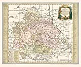 Historische Karte: Grafschaft Mansfeld 1760 - nebst denen Ämtern Sangerhausen, Querfurt, Sittichenbach und Allstedt. (Plano)
