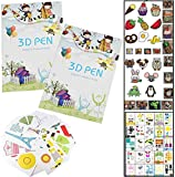 3d stift vorlagen buch Fiyuer 40 Pcs 3d stifte silikonmatte für Druck Stift Zeichnung Schablonen Kind Anfänger