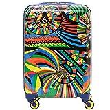 Aerolite Leichter Polykarbonat Hartschale 4 Rollen Reisegepäck Trolley Koffer Handgepäck für Ryanair, easyJet, Lufthansa, Jet2 und mehr, Karneval