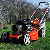 HECHT 5-IN-1 Benzin Rasenmäher – leistungsstarker 4 Takt Eco Motor 4,4 kW (6,0 PS) – Seilzug Starter – mit 53 cm Schnittbreite – 75 l Fangkorb –...