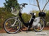 Viron Elektrofahrrad 250W / 36V E-Bike 26' Zoll Pedelec Fahrrad mit Motor Citybike (schwarz)