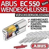 Abus Türzylinder mit Wendeschlüssel, 28/34 Zylinderaufteilung, Not - und Gefahrenfunktion